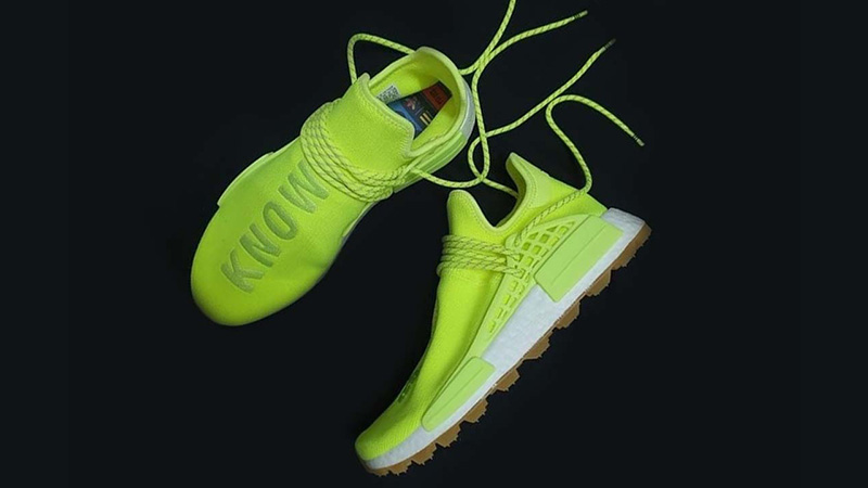 Pharrell x adidas NMD Hu Know Soul Volt | EF2335 lifestyle above