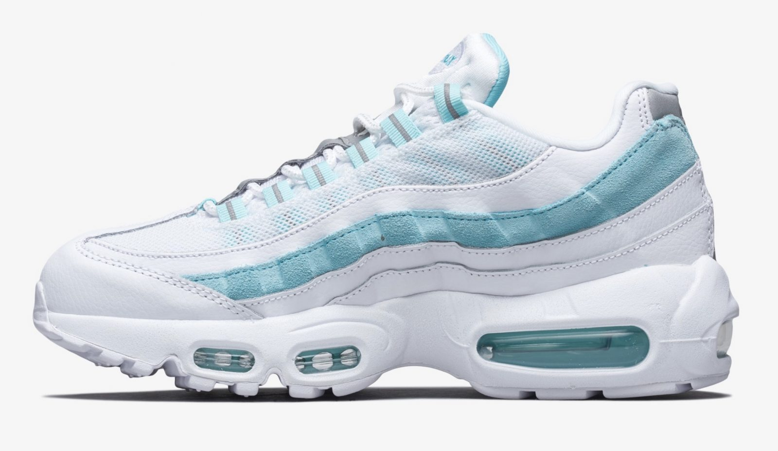 The Waves On This Nike Air Max 95 Look Like Actual Waves In 'Light Aqua' right