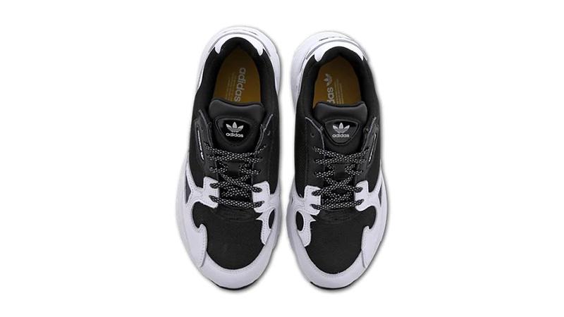 adidas Falcon White Black middle