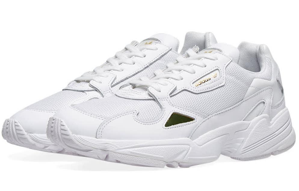 adidas Falcon White Metallic Gold