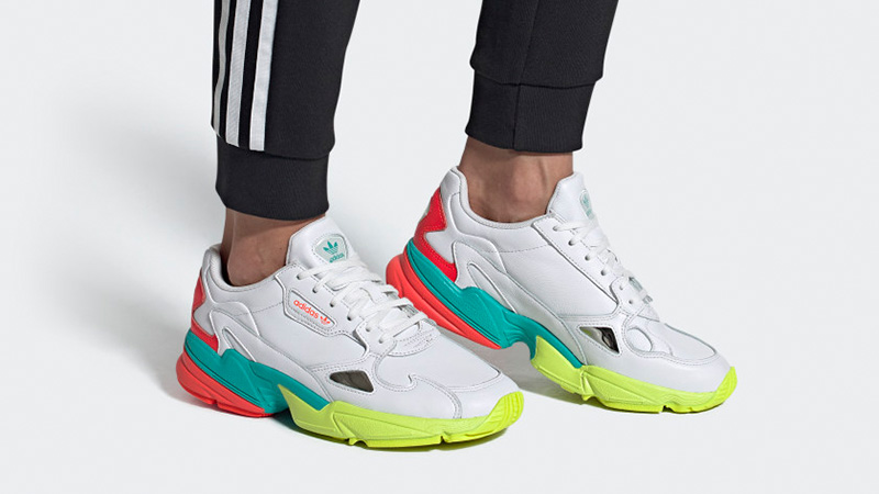 adidas Falcon White Multi EH0319 on foot