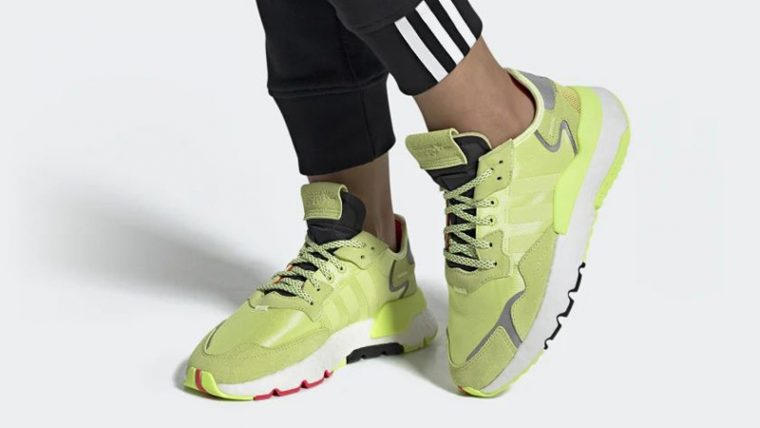 adidas Nite Jogger Frozen Yellow EE5911 on foot thumbnail image