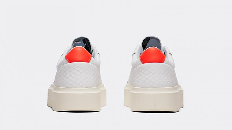 adidas Sleek Super White Red Womens back thumbnail image