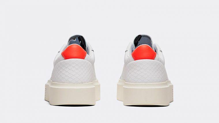 adidas Sleek Super White Red Womens back thumbnail image