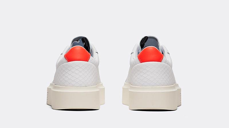 adidas Sleek Super White Red Womens back