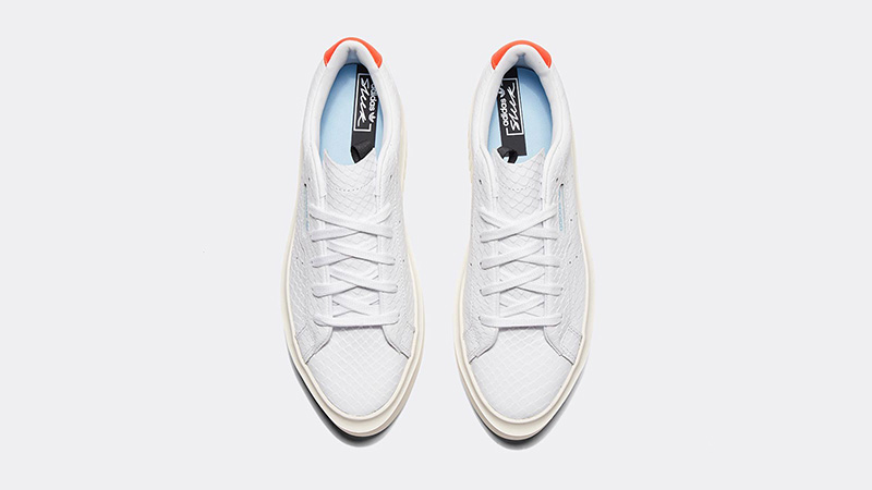 adidas Sleek Super White Red Womens middle