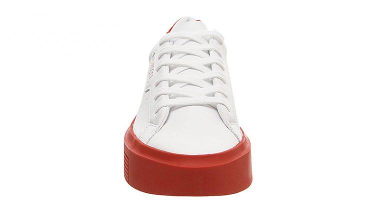 adidas Sleek Super White Red front thumbnail image