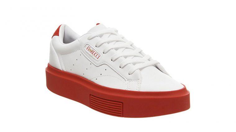adidas Sleek Super White Red side thumbnail image