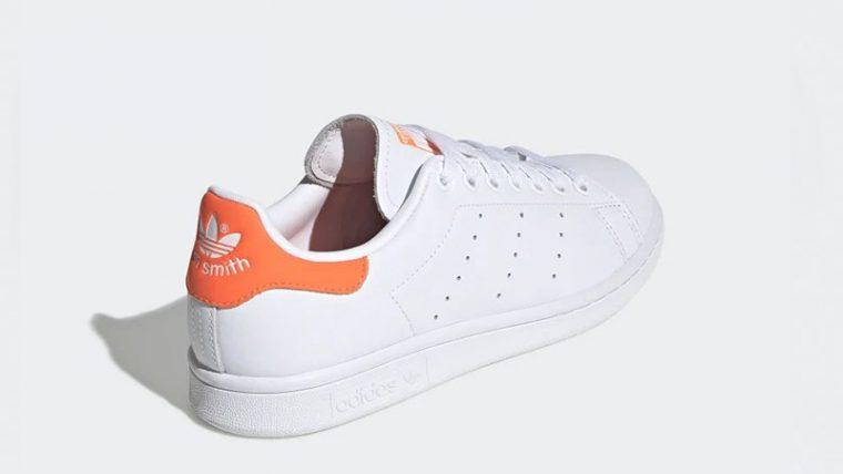 adidas Stan Smith White Orange EE5863 back thumbnail image