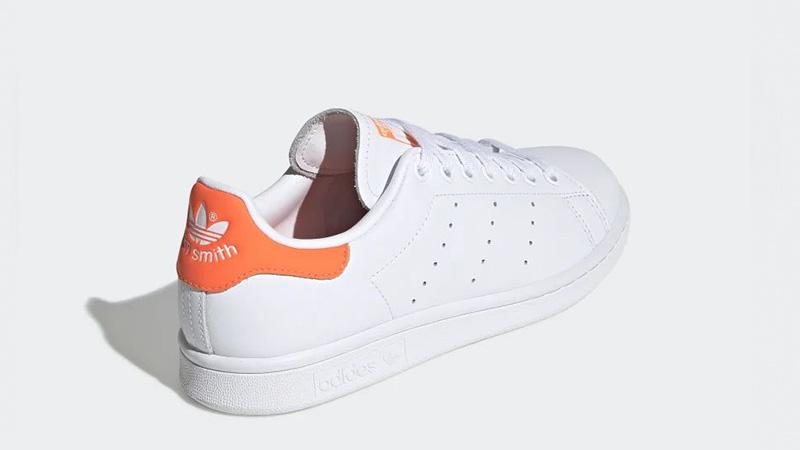 adidas Stan Smith White Orange EE5863 back
