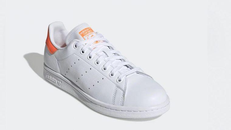 adidas Stan Smith White Orange EE5863 front thumbnail image