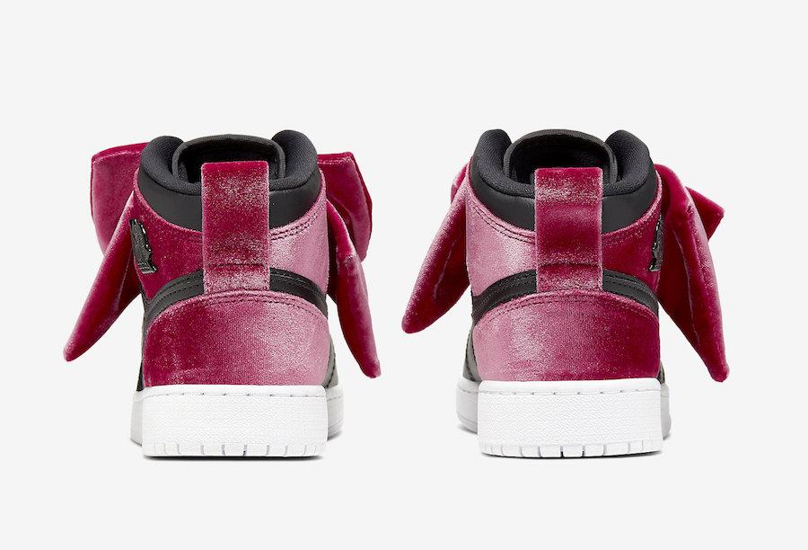 Air-Jordan-1-Mid-Bow-Black-Noble-Red-CK5678-006-Release-Date-2 heel