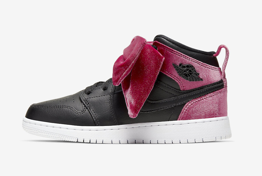 Air-Jordan-1-Mid-Bow-Black-Noble-Red-CK5678-006-Release-Date-2 side 2