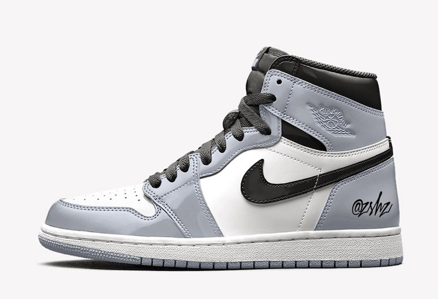 "An Exclusive Women's Air Jordan 1 High OG ""Patent Leather"" Grey Colourway Has Just Surfaced"