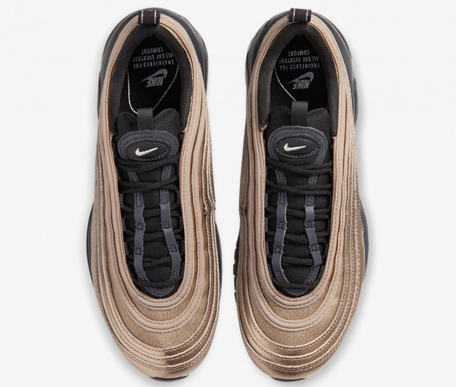 Get Seasonal In The Latest Nike Air Max 97 Metallic Gold laces
