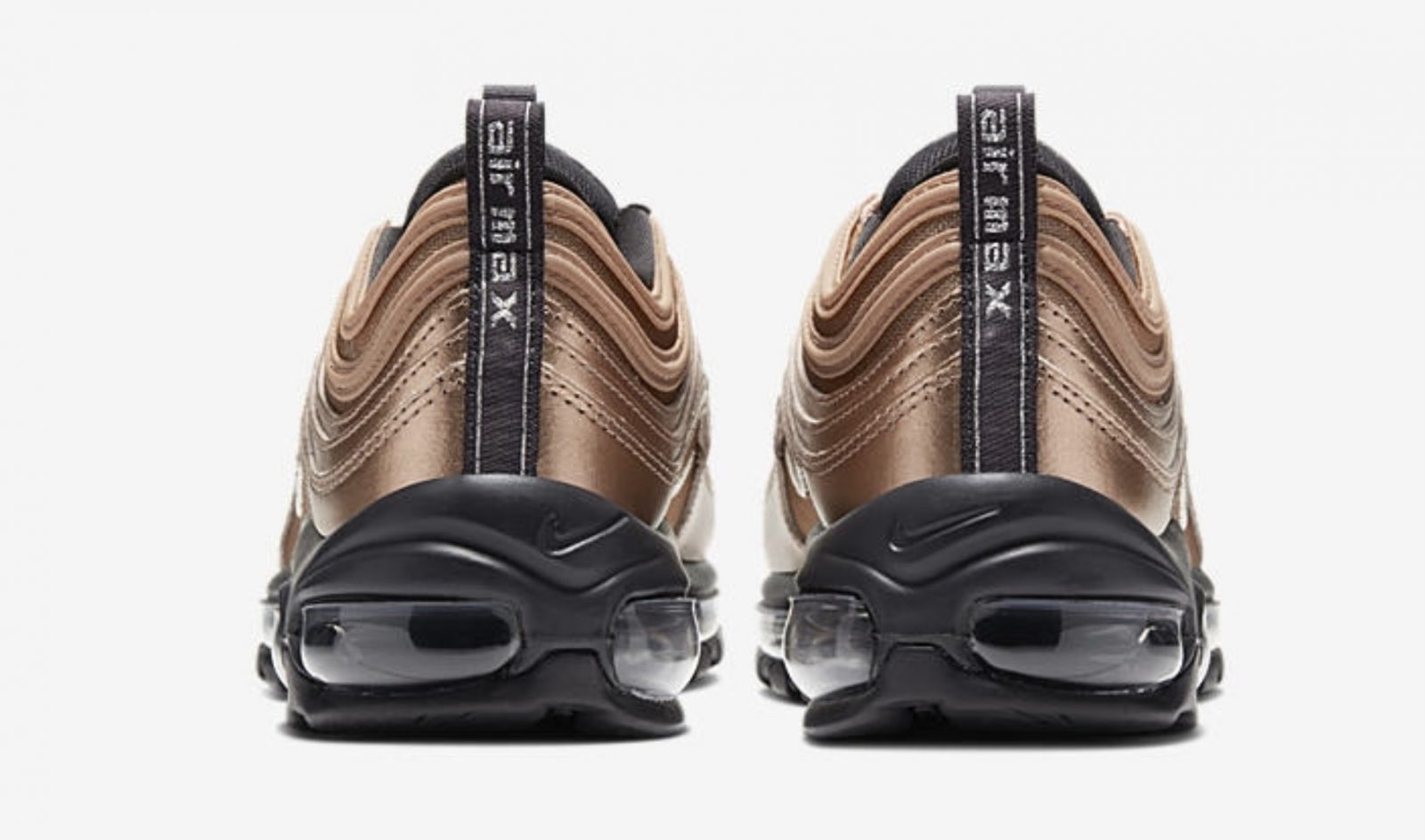 Get Seasonal In The Latest Nike Air Max 97 Metallic Gold heel
