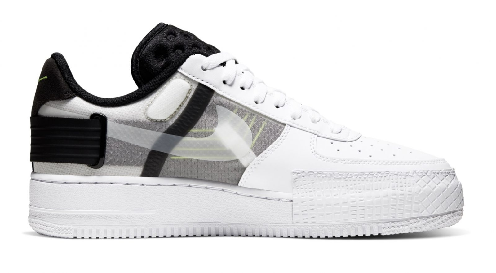 Go Monochrome With A Hint Of Neon With Nike's Latest Air Force 1 Type inside