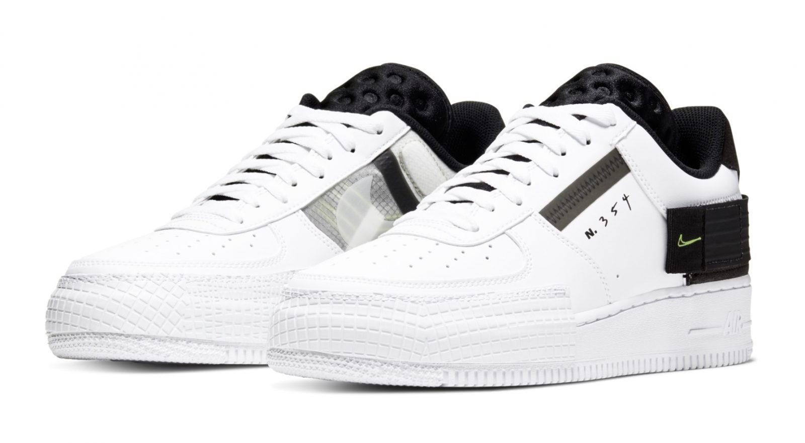 Go Monochrome With A Hint Of Neon With Nike's Latest Air Force 1 Type