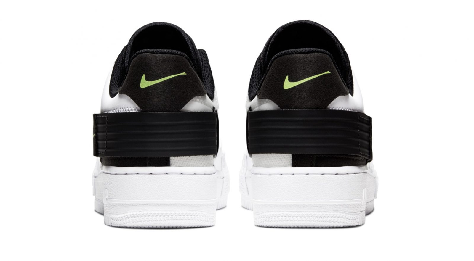 Go Monochrome With A Hint Of Neon With Nike's Latest Air Force 1 Type heel