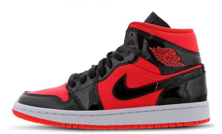Jordan 1 Mid Hot Punch Black Womens BQ6472-600