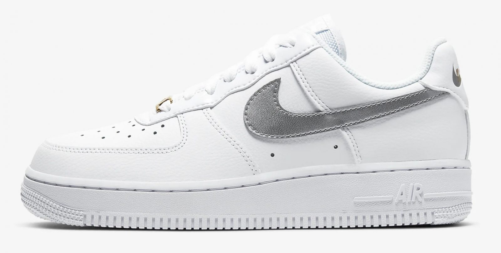 CT2549-100 Mix Silver & Gold Together In Style On This Brand New Nike Air Force 1 side 1
