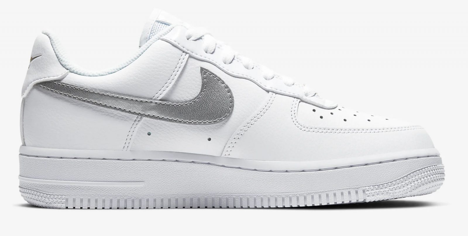 CT2549-100 Nike Air Force 1 Silver Gold side 2