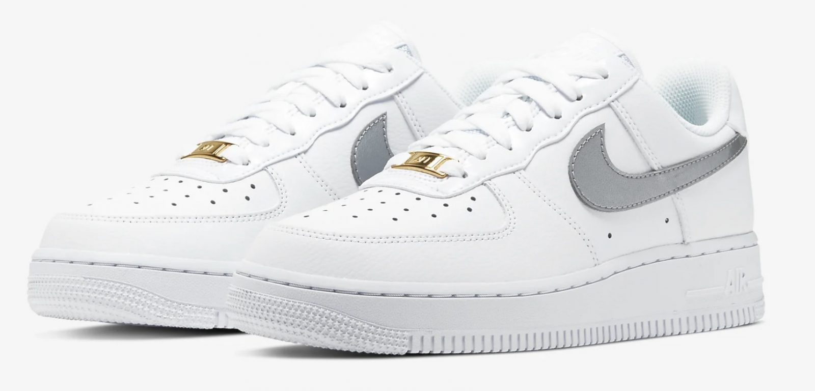 CT2549-100 Nike Air Force 1 Silver Gold