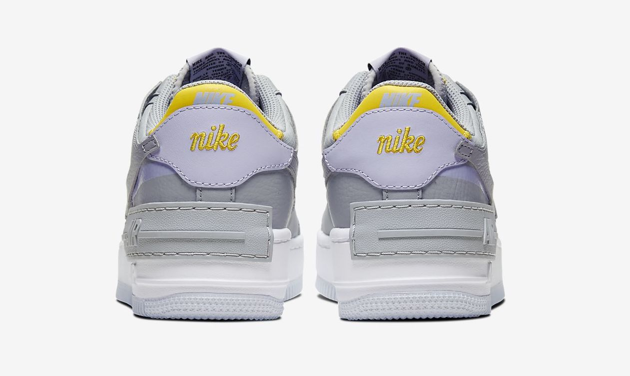 Nike Air Force 1 Shadow Grey Yellow Where To Buy Ci0919 002 The Sole Womens The air force 1 lv8 takes the iconic sneaker and mixes and matches materials for standout results. nike air force 1 shadow grey yellow