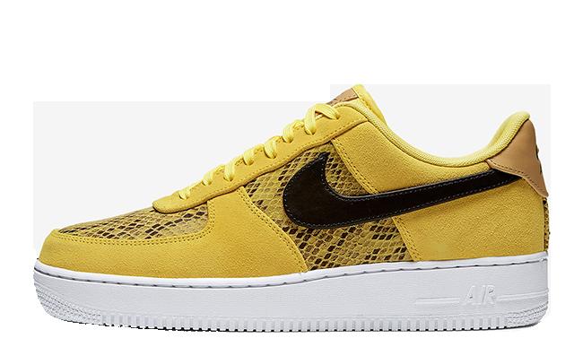 Nike Air Force 1 Low Snakeskin Mustard