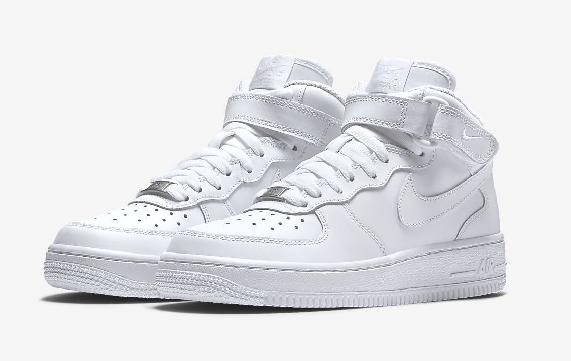 Nike Air Force 1 Mid White front
