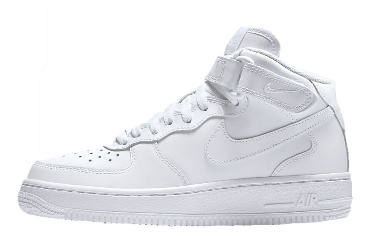 Nike Air Force 1 Mid White side