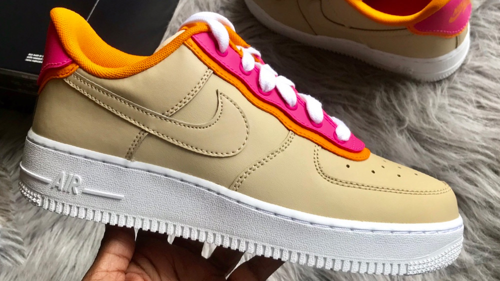 Nike Air Force 1 Pink Orange Peel