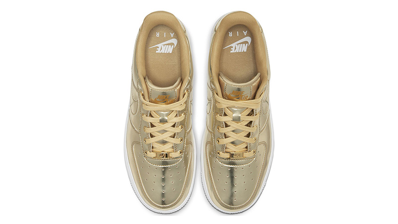Nike Air Force 1 SP Liquid Metal Pack Gold middle