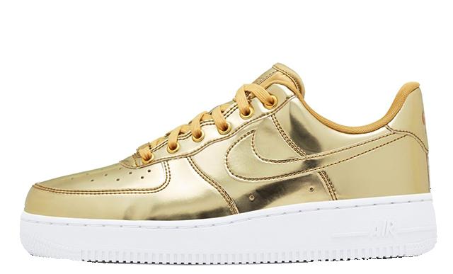Nike Air Force 1 SP Liquid Metal Pack Gold