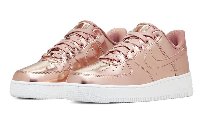 rose gold air force 1