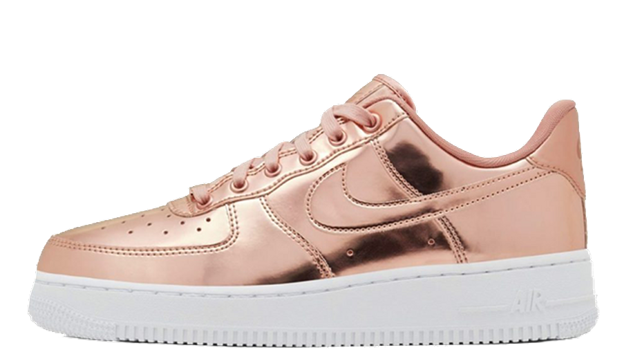 Nike Air Force 1 Sp Liquid Metal Pack Rose Gold Where To Buy Tbc The Sole Womens Recently surfaced images reveal a rose gold silk colorway of a clot x nike air force 1 that continues the silk royale pattern which clot first used in 2007 and has reportedly priced at $250 usd, the clot x nike air force 1 rose gold silk is rumored to be releasing january 11, 2020. nike air force 1 sp liquid metal pack