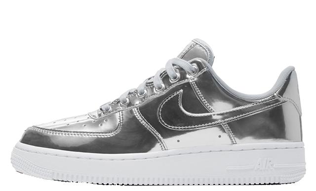 Nike Air Force 1 SP Liquid Metal Pack Silver