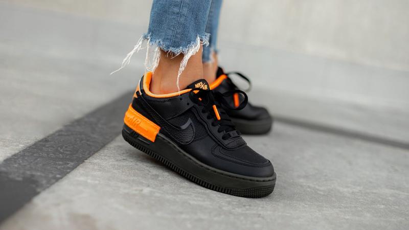 Nike Air Force 1 Shadow Black Orange Where To Buy Cq3317 001 The Sole Womens La nike air force 1 shadow est un modèle qui reprend les codes de la silhouette la plus emblématique de chez nike : nike air force 1 shadow black orange