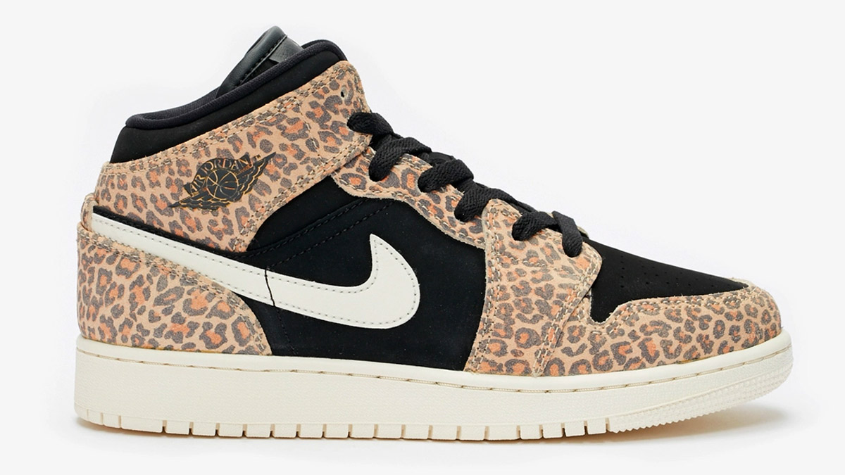 air jordan 1 mid leopardo