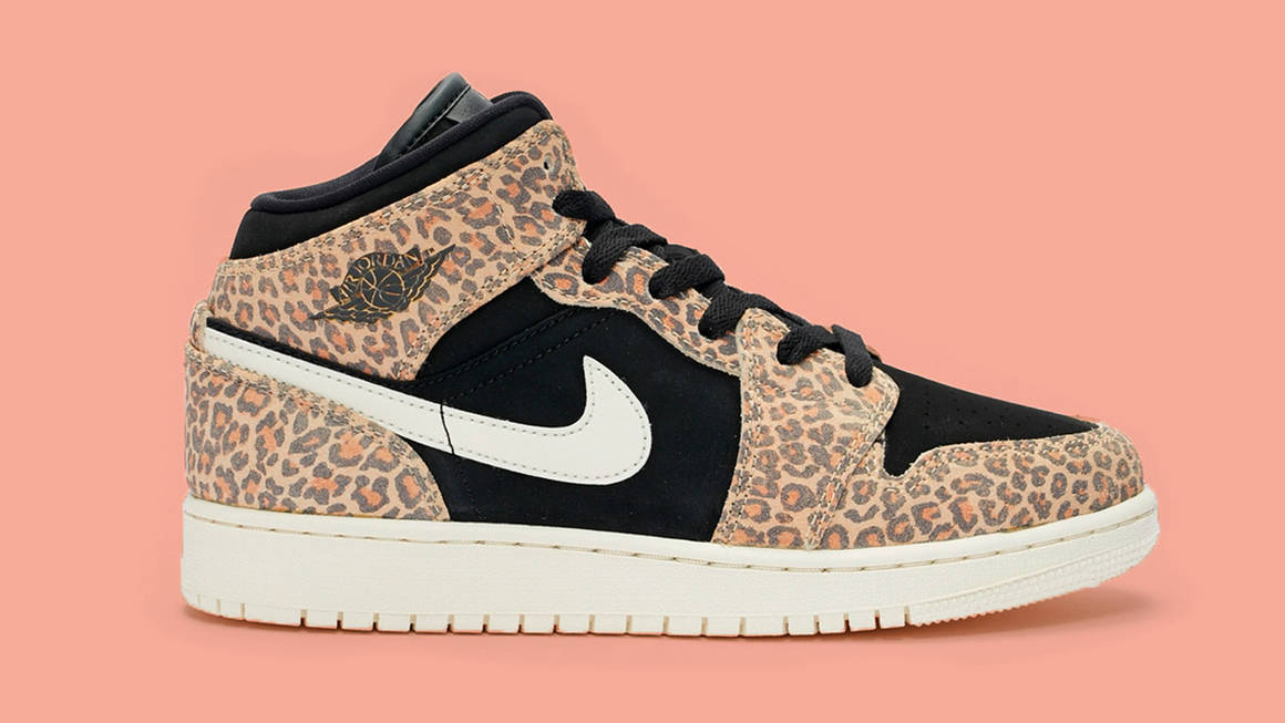 Step Outside The Box With The Nike Air Jordan 1 Mid Leopard Print ...