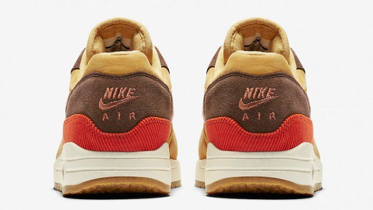 Nike Air Max 1 Crepe Wheat Gold Rust Pink CD7861-700 back thumbnail image