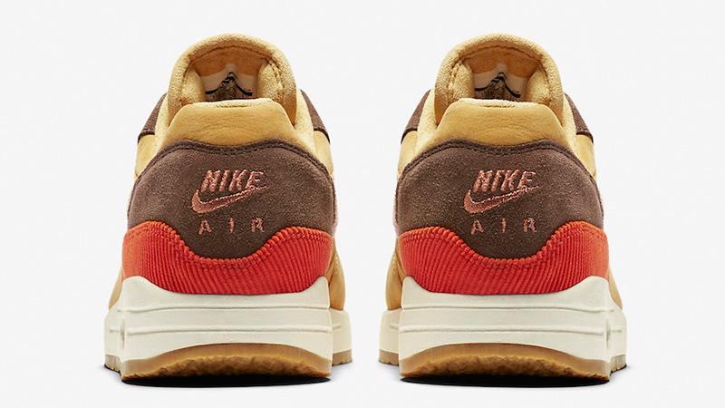 Nike Air Max 1 Crepe Wheat Gold Rust Pink CD7861-700 back