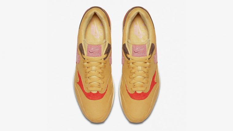 Nike Air Max 1 Crepe Wheat Gold Rust Pink CD7861-700 middle thumbnail image