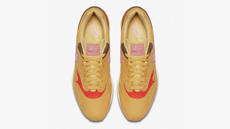 Nike Air Max 1 Crepe Wheat Gold Rust Pink CD7861-700 middle