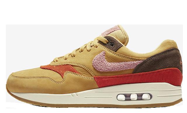 Nike Air Max 1 Crepe Wheat Gold Rust Pink CD7861-700