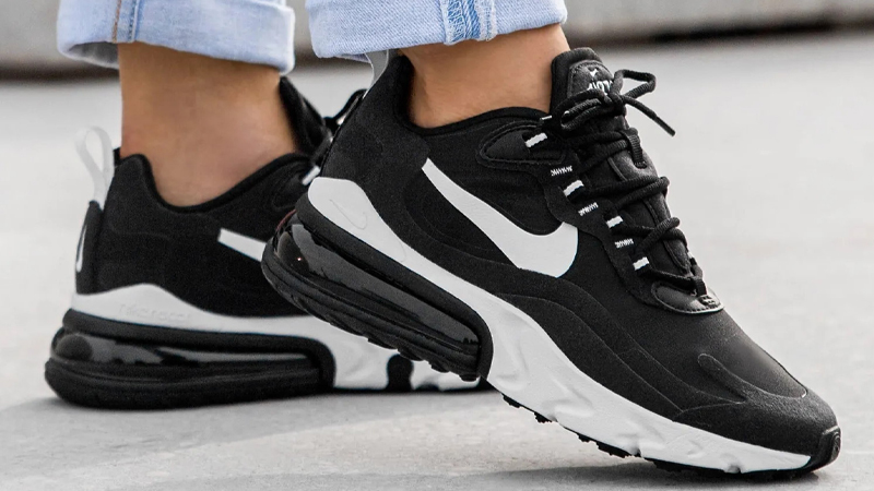 Nike Air Max 270 React Black White At6174 004 The Sole Womens