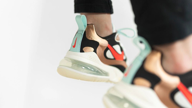 Nike Air Max 270 React Pure Platinum CT3428-100 on foot back