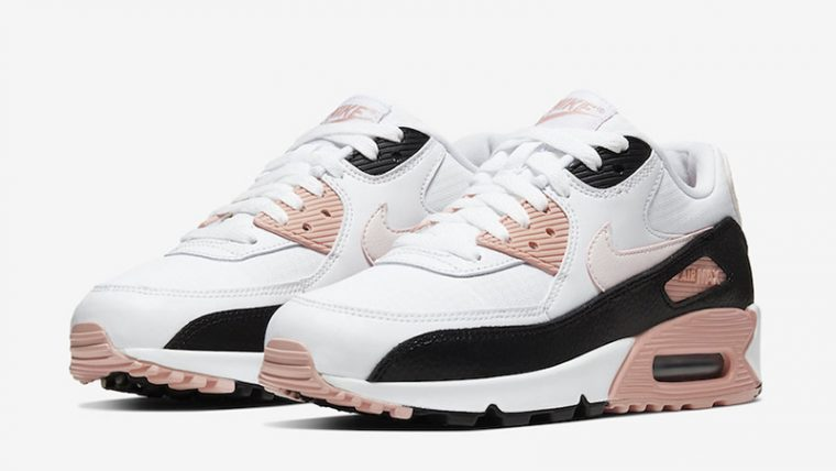 Nike Air Max 90 White Pink front thumbnail image