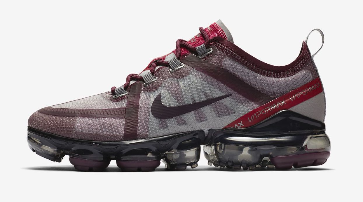 Nike Air VaporMax 2019 Burgundy side.