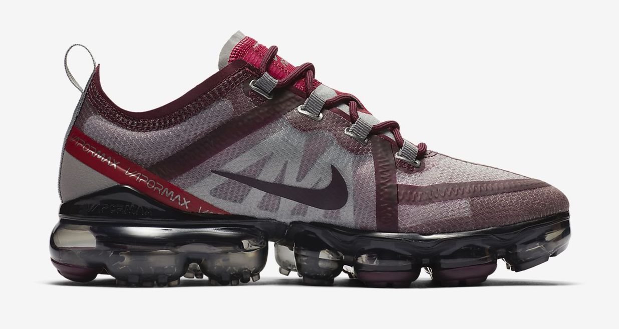 Nike Air VaporMax 2019 Burgundy side